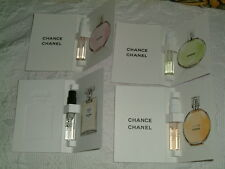 4 x CHANEL PERFUME (L'EAU NO.5 CHANCE TENDRE,EDT,FRAICHE  ) SAMPLE  2ml  each