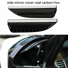 2pcs Carbon Fiber Car Rear View Side Mirror Visor Shade Rain Shield Water Guard