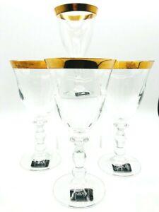 Mikasa Kensington Gold Stemware Set of 4 Wine Glass. 1997-1999. Discontinued.