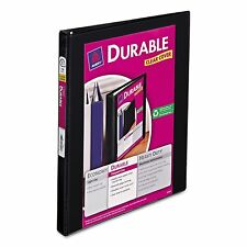 """Avery Durable 1/2"""" Slant 3-Ring Binder Black Office Inch View Sheet Paper Three"""