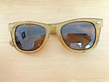 Betsy Johnson Glittery Gold Sunglasses