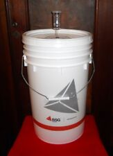 FERMENTATION BUCKET 6.5 GALLON PRIMARY w/ LID+AIRLOCK HOME BREWING BEER WINE KIT