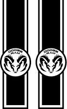 5.7 LITER DODGE RAM HEMI TRUCK RACING Race STRIPE # 3 Skull VINYL DECAL STICKER