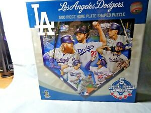 New 500 piece home plate puzzle by Master Pieces LA Dodgers