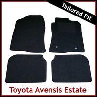 TOYOTA AVENSIS Estate Mk2 2003-2008 Tailored Carpet Car Floor Mats BLACK