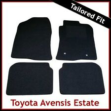 TOYOTA AVENSIS Estate Mk2 2003-2008 Tailored Carpet Car Floor Mats BLACK