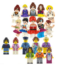 12pcs Town Blocks Figure For Lego Minifigure Mini People  Occupations Gift Girl