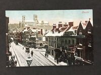Vintage RP Postcard: Lincs: #T30: Lincoln With Snow