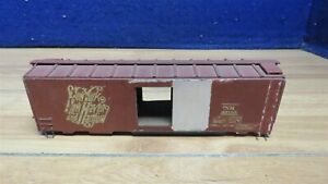 """S SCALE KIT BUILT WOOD NYNH&H BOX CAR BODY 7 3/4"""" INCOMPLETE 601216"""