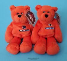 "Limited Treasures Pro Bears 8"" - Denver Broncos - Elway & Davis - 1998 - NEW"