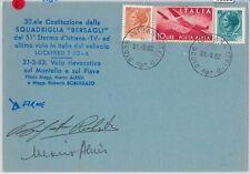 65320  - STORIA POSTALE - AVIAZIONE:  VOLO SPECIALE  Squadriglia Bersagli 1982