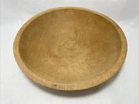"Natural Munising Primitive Wooden Wood Dough Bowl Solid Wood 11 5/8""L x 10.75""W"
