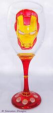 Iron man verre vin marvel comic book hero geek cadeau