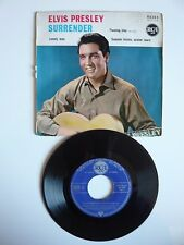"ELVIS PRESLEY Surrender French 1961 EP 7"" VINYLE SINGLE RCA 86.303"