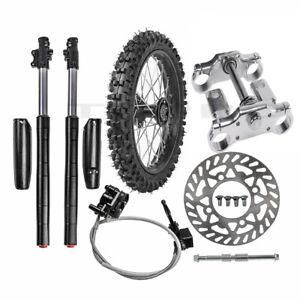 "1.4x14"" Front Wheel Rim 60/100-14 Tire + Front Forks Triple Tree Pit Bike KLX110"