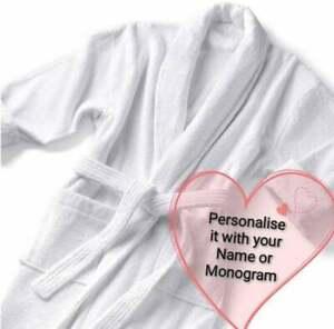 Personalised Unisex Luxury Premium Bath Robe Embroidered Bath Robe Dressing Gown