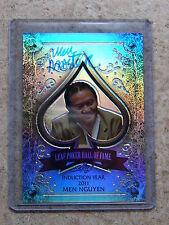 2011 Leaf Razor Metal Poker Prismatic HOF Poker Hall of Fame MEN NGUYEN /10