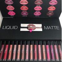 HUDA Beauty Kosmetik liquid matte lippenstift lipgloss box 16 Farben collection