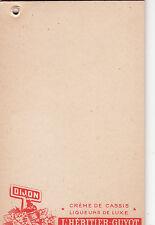 Y366 ancien petit carnet d'Epicier DIJON L'HERITIER GUYOT Creme de Cassis Liqueu
