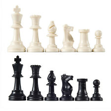 Kings Court Chess Analysis Club Chess Pieces 32 small plastic basic black white