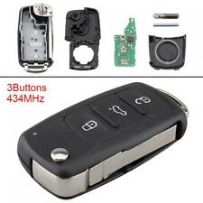Keyless Uncut Flip Remote Car Key Fob Fit for Golf / VolksWagen / Beetle / Caddy