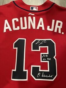 Ronald Acuna Jr. Signed Nike Atlanta Braves Autograph Jersey Beckett Acuna Auto