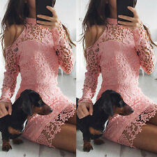 Fashion New Women Long Sleeve Bodycon Evening Party Cocktail Sexy  Mini Dress UK