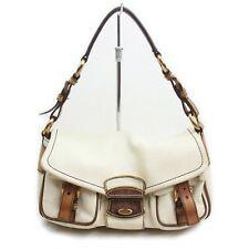 Prada Hand Bag  Beiges Leather 1201975