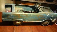 Antique Metal Pedal Car. Very Rare Soild Metal Made In The Usa Rare Original