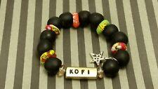 Traditional Name Bracelet frm Ghana African Krobo Powdered Glass Beads Handmade