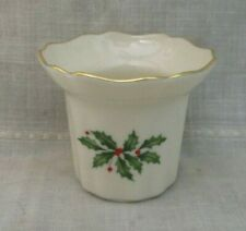 Lenox Dimension Collection Holiday Votive Candle Holder Christmas Holly Berries
