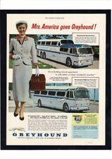 Vintage Greyhound Bus Travel Luxury Sun Bikini Mrs. America Girls Ad Print Art