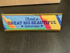 Disney Parks Carousel Of Progress Desk Plate Sign Great Big Beautiful Tomorrow