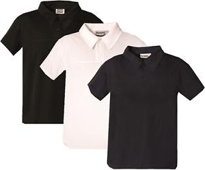 Mens Polo Shirts Short Sleeve T Shirt Sports Top Gym Tee T-Shirt Wicking XS-5XL
