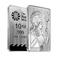 Lot of 2 - 10 oz Britannia Silver Bar .999 Fine (Sealed)