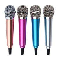 3.5mm Mini Condenser Microphone Phone Karaoke Mic for iPhone Android Newly