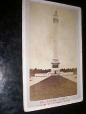 Cdv old photograph view Boulogne Column of the Grande Armée c1880s Ref 507(10)