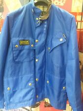barbour International jacket waxed cotton  giacca blu 100%authentic Size 48