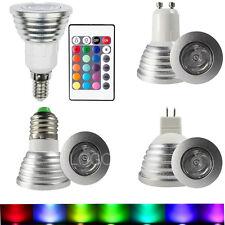 10x GU10 E27 E14 MR16 Changement RGB LED Ampoule Lampe Lumière+IR Télécommande