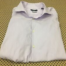 MENS~HUGO BOSS~DRESS SHIRT~ SHARP FIT~16~34/35 PURPLE MICRO-PINSTRIPED~