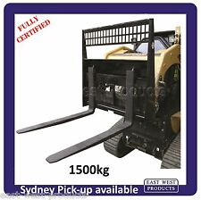 SKID STEER PALLET FORKS ASSEMBLY QFC150 1500kg for skid steers and loaders
