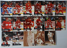 1991-92 Pro Set Series 1 Detroit Red Wings Team Set of 17 Hockey Cards