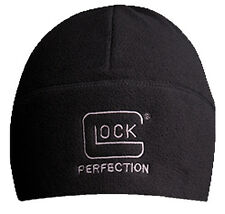 GLOCK Perfection Factory Fleece Beanie Toboggan Hat - Black w/ Glock Logo - NEW