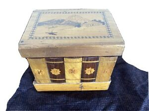 Vintage Japanese Wooden Puzzle Book Mystery Box Mt. Fuji  japan