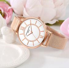 Uhr Armbanduhr Analog Modisch  Rund Watch Damen Quarz  Rotgold Rosegold Band