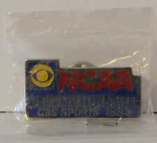 "1993 NCAA Basketball Championship CBS Sports Media Press 1 1/4"" Pin New in Bag"