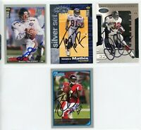 ATLANTA FALCONS Autographed Football Card Lot - 4 Autos JEFF GEORGE, MATHIS