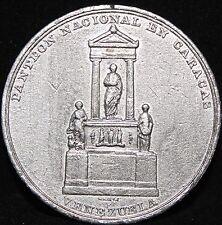 VENEZUELA ULTRA *RARE* MEDAL 1876 WHITE METAL PANTEON NACIONAL EN CARACAS GUZMAN
