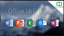 Microsoft Office 2016 For Mac - Home & Business - 3 Mac Users - Full Version