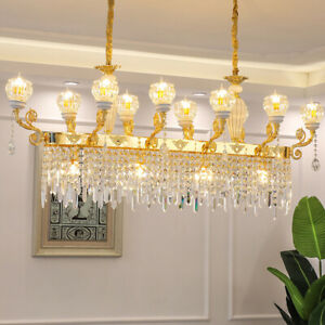 European luxury LED zinc alloy Crystal hanging lamp Dimming restaurant  lighting